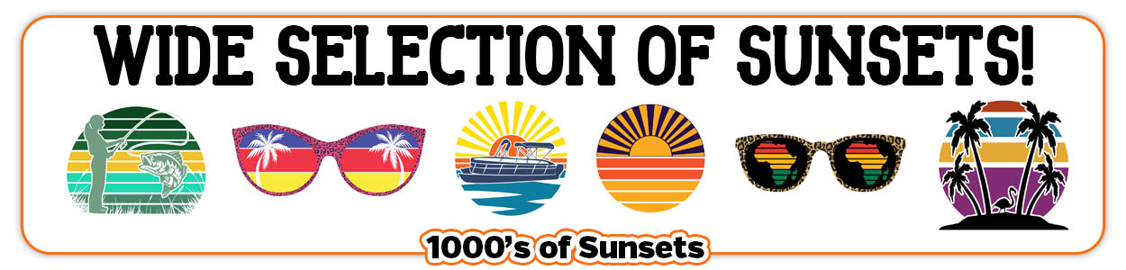 Retro Vintage Sunset Graphics for Print on Demand Use