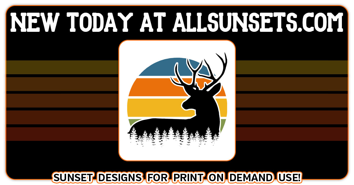 buck deer forest cutout retro sunset allsunsets promo preview