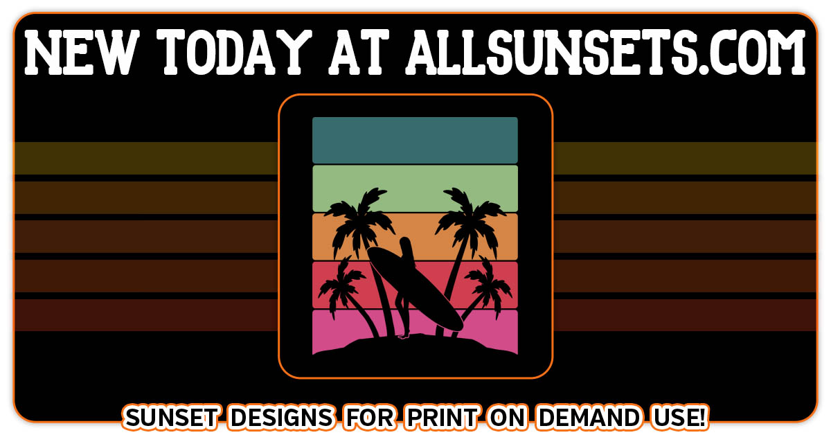female surfer palm trees beach retro sunset allsunsets promo preview